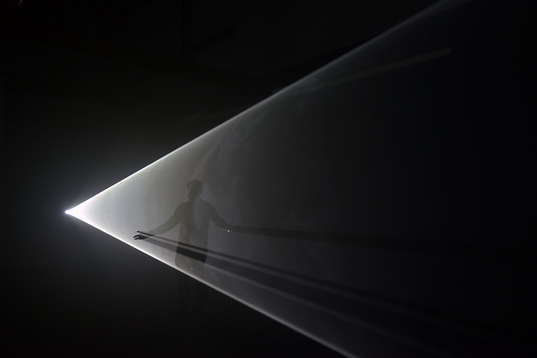 Anthony McCall, 'Swell', installation at Lismore Castle Arts, 2017